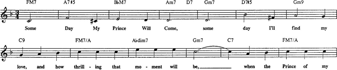 Esempio di tempo semplice, un jazz waltz