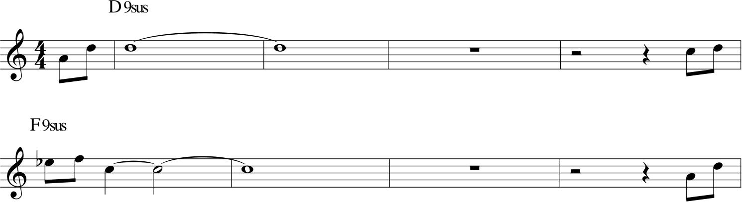 Heribe Hancock maiden voyage, intervalli di quarta nel tema