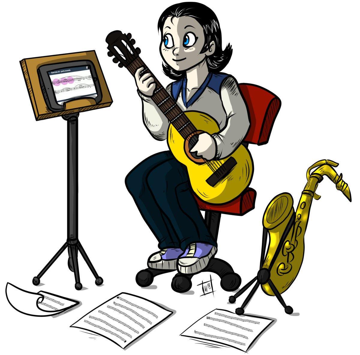 una studentessa del corso di armonia jazz