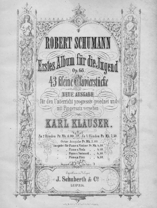 Secondo anno di pianoforte - Schumann album per la gioventù