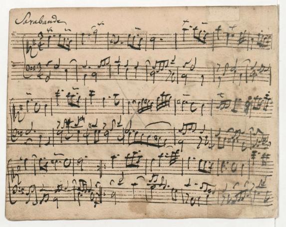 Secondo anno di pianoforte - Una pagina dal libro di Anna Magdalena
