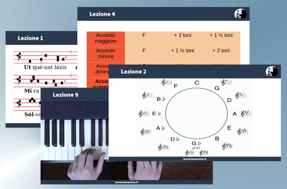 video corso di armonia lezioni ed esempi al pianoforte