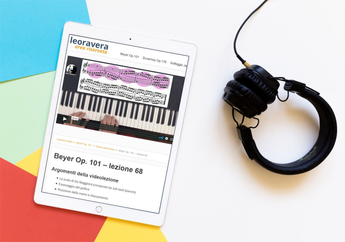 video corso beyer op 101 metodo per pianoforte