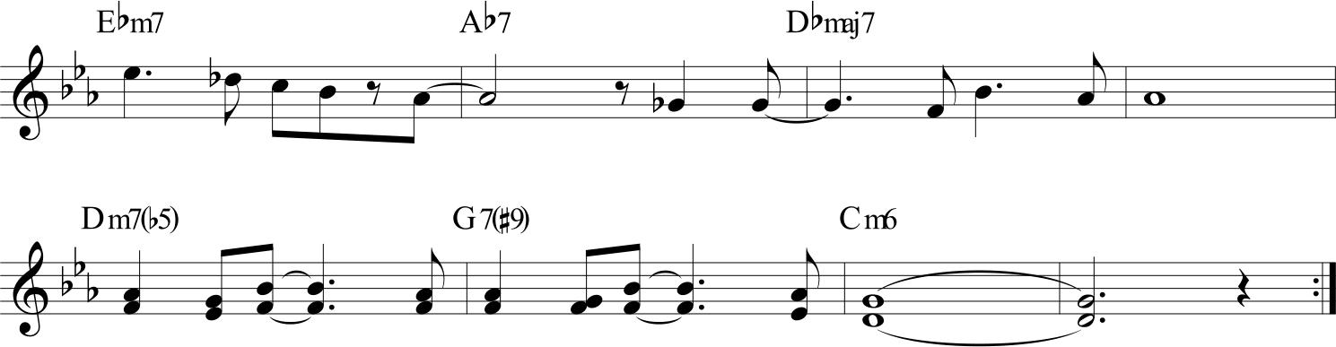 Blue Bossa - parte finale