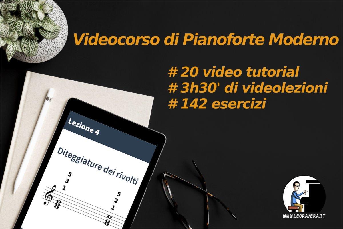 Corso di pianoforte moderno - videolezioni esercizi tutorial