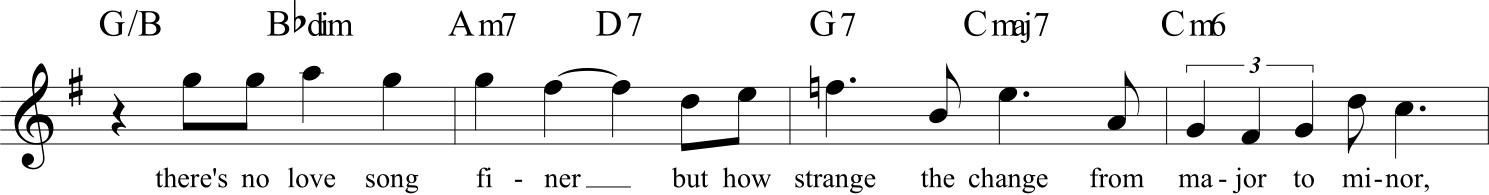 Un raro esempio di metanarrazione all'interno del repertorio americano - spartito