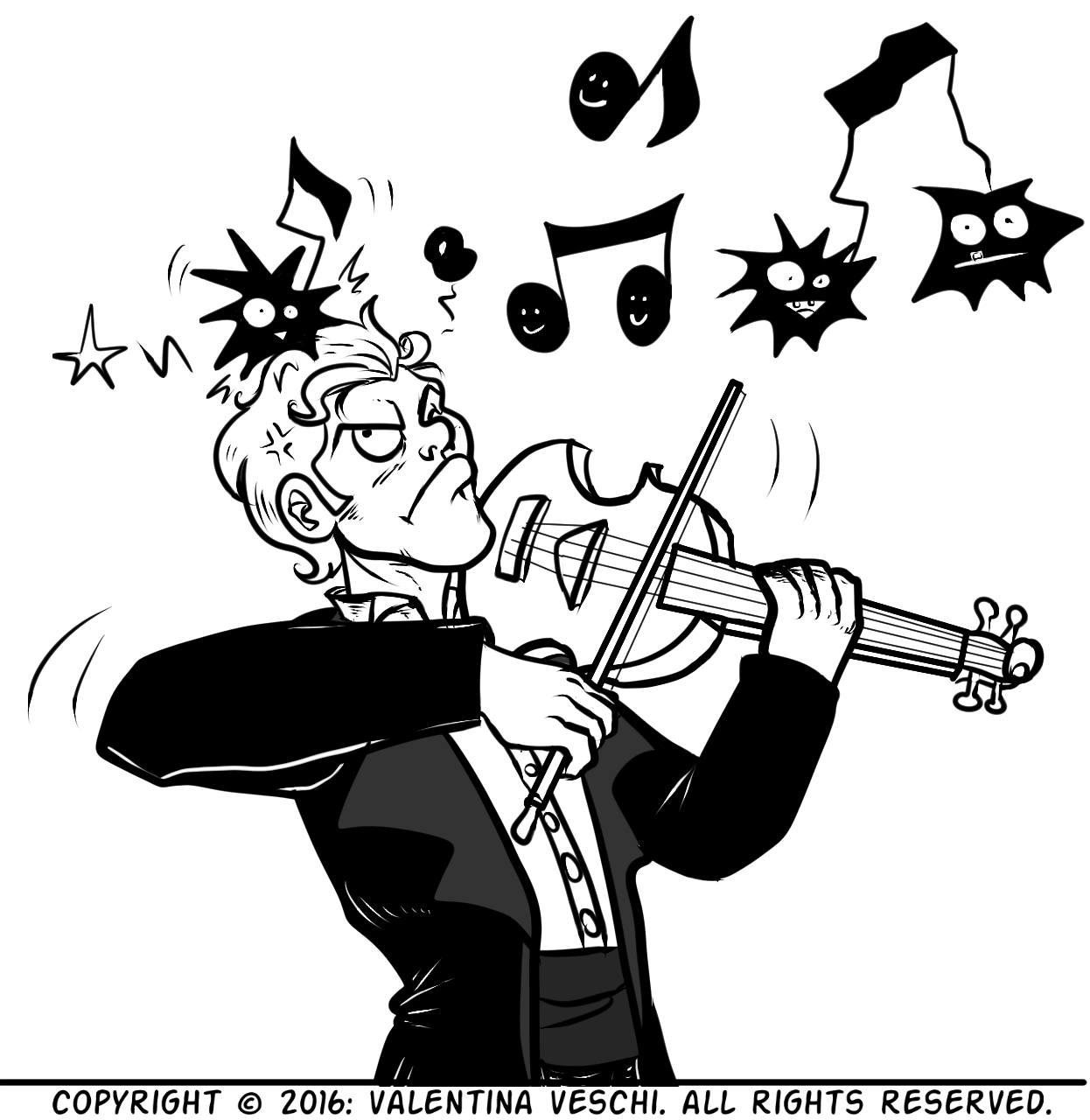 """un violinista suona le """"note sbagliate"""""""