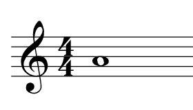 Suoni alti e bassi - La nota La sul terzo spazio