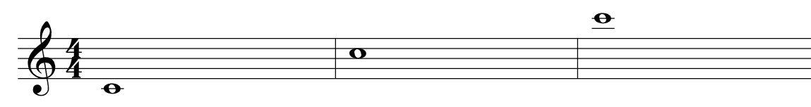 Suoni acuti e gravi - Tre Do alti bassi