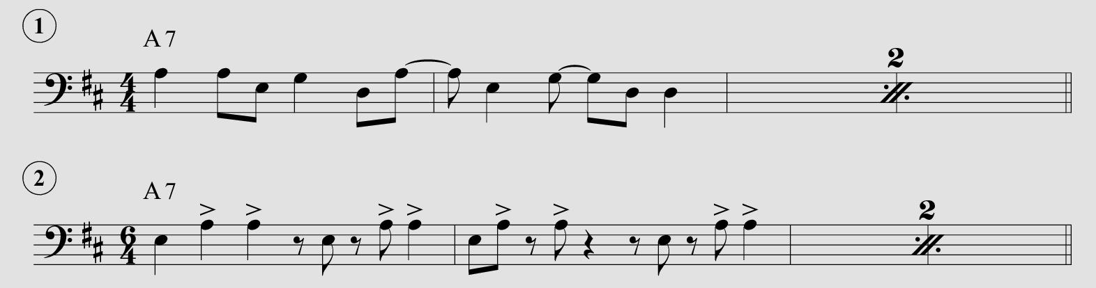 Busy Port, spartito del riff di pianoforte