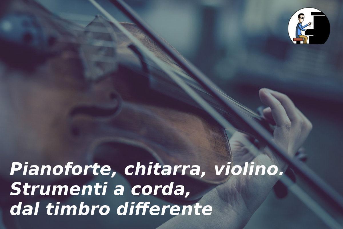 timbro pianoforte chitarra violino