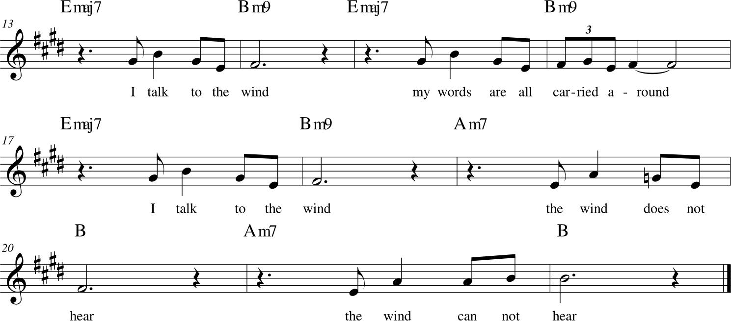 King Crimson - I Talk To the Wind - ritornello