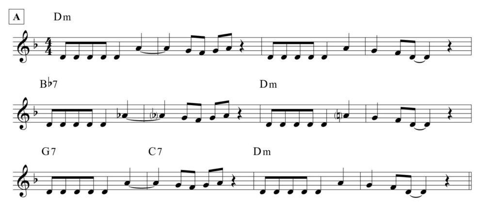 Il tema principale di Gassmann blues, di Piero Umiliani