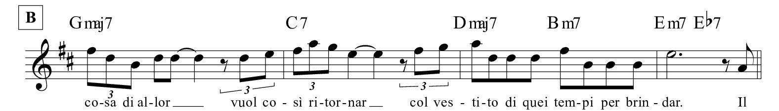 I-ricordi-della-sera-Quartetto-Cetra- PARTE B SPARTITO